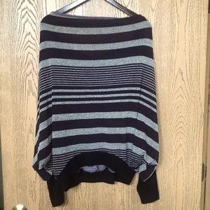 [point] Striped Dolman Sleeve Sweater